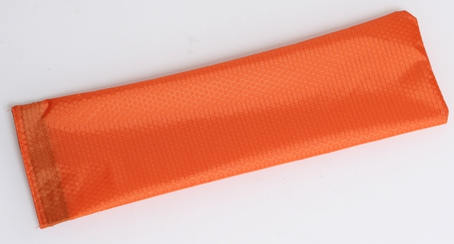 Full Lengh nylon pouch - Dark Orange, Full length storage pouch for use inside Rock Bar case.  Color is Dark Orange. Made from hexaganol coated ripstop nylon.  Velcro opening at top. Ideal if you need an extra pouch or a replacement pouch.