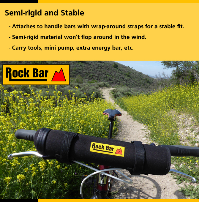 Rock Bar case on MTB bars: mustard flowers.